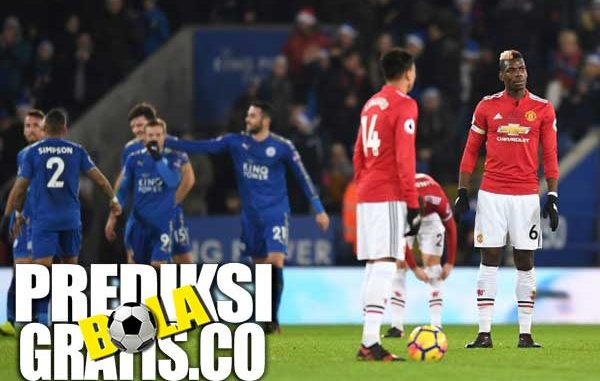 hasil pertandingan leicester vs manchester united, liga inggris, premier league, leicester city, the foxes, manchester united, the red devis, harry meguier, jamie vardy, juan mata