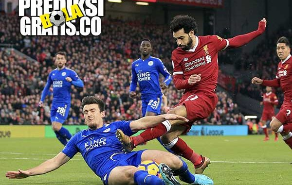 hasil pertandingan, liverpool vs leicester city, liga inggris, premier league, mohamed salah, jamie vardy, liverpool, leicester city, the reds, the foxes, anfield