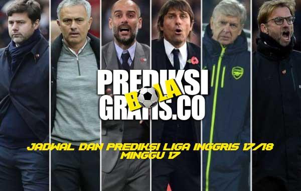 premier league minggu 17, jadwal, prediksi, liga inggris, premier league, minggu 17