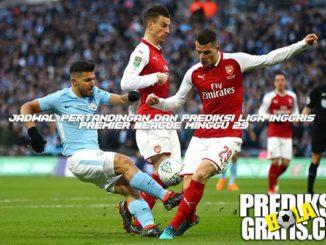 jadwal pertandingan, prediksi pertandingan, premier league, liga inggris, premier league minggu 29, arsenal vs manchester city, arsene wenger, pep guardiola