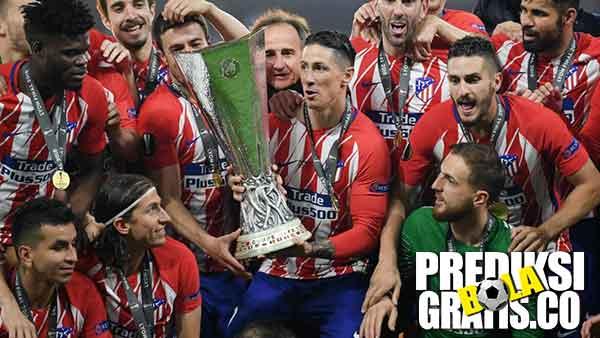 Atletico Madrid Juara, atletico madrid, marseille, la liga, ligue 1, europa league, final, antoine griezmann, gabi, dimitri payet, diego simeone