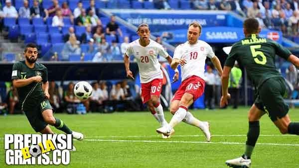 hasil pertandingan, piala dunia 2018, denmark vs australia, denmark, australia, christian eriksen, yussuf poulsen, mile jedinak, socceroos