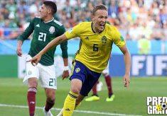 hasil pertandingan, piala dunia 2018, meksiko vs swedia, meksiko, swedia