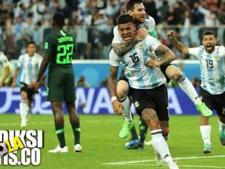 hasil pertandingan, piala dunia 2018, nigeria vs argentina, nigeria, argentina, lionel messi, marcos rojo, ahmed musa, victor moses