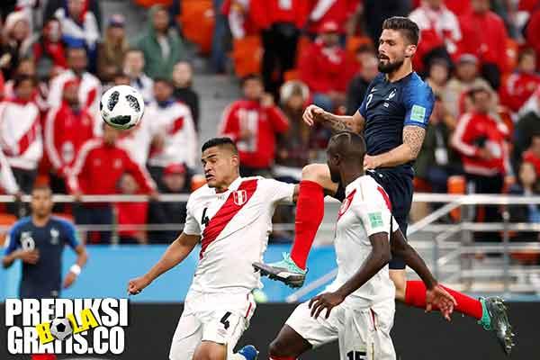 hasil pertandingan, piala dunia 2018, perancis vs peru, perancis, peru, paul pogba, kylian mbappe, olivier giroud