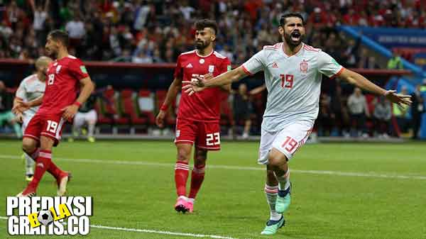 hasil pertandingan, piala dunia 2018, iran vs spanyol, iran, spanyol, diego costa, david de gea