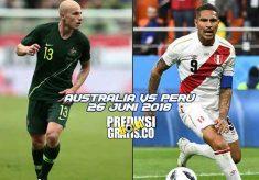 prediksi pertandingan, piala dunia 2018, australia vs peru, australia, peru, socceroos