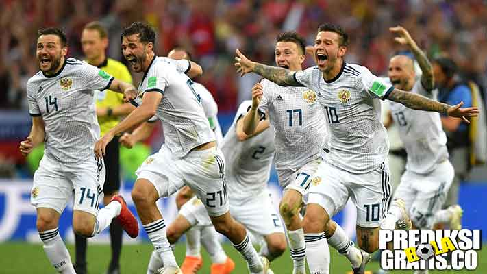hasil pertandingan, piala dunia 2018, babak 16 besar, spanyol vs rusia, spanyol, rusia, igor akinfeev, artem dzyuba, aleksandr golovin, diego costa, david de gea, andres iniesta, isco