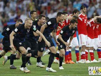 hasil pertandingan, babak perempat final, piala dunia 2018, rusia vs kroasia, rusia, kroasia, denis cheryshev, andrej krmaaric, mario fernandes, domagoj vida, ivan rakitic, luka modric