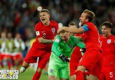 hasil pertandingan, piala dunia 2018, babak perempat final, swedia vs inggris, swedia, inggris, harry maguire, bamidele allie, harry kane, jordan pickford