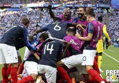 hasil pertandingan, piala dunia 2018, babak 16 besar, perancis vs argentina, perancis, argentina, lionel messi, kylian mbappe,, benjamin pavard, angel di maria, gabriel mercado, antoine griezmann, sergio aguero