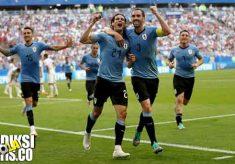 hasil pertandingan, piala dunia 2018, babak 16 besar, uruguay vs portugal, uruguay, portugal, edinson cavani, luis suarez, cristiano ronaldo