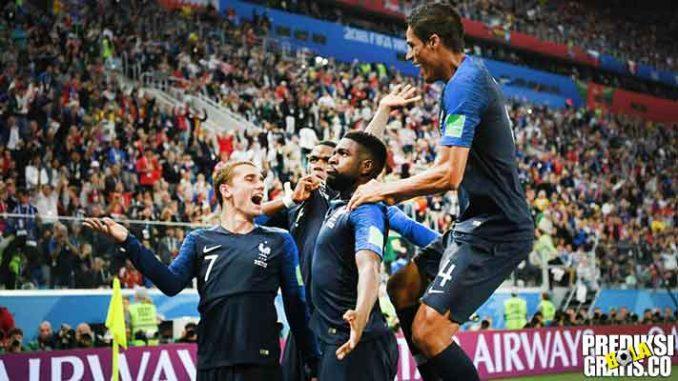 hasil pertandingan, semifinal, piala dunia 2018, perancis vs belgia, perancis, belgia, samuel umtiti, didier deschamps, hugo lloris, kylian mbappe